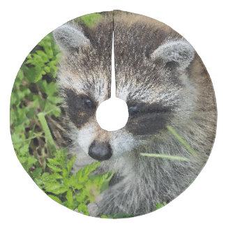 Aqua_Raccoon_20180101 Fleece Tree Skirt