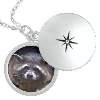 Aqua_Raccoon_20180102 Locket Necklace