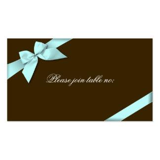 Aqua Ribbon Guest Table Place Card Business Card