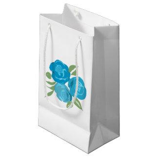 Aqua Roses Gift Bag