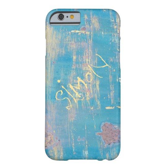 Aqua Rustic Distressed Custom Name iPhone 6 Case