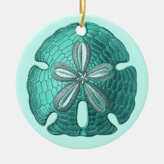 Aqua Sand Dollar Ornament