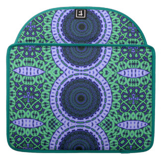 Aqua Seahorse Kaliedescope Pattern Sleeve For MacBooks