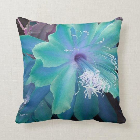 Aqua Sherbet Flower Pillow by Sharles