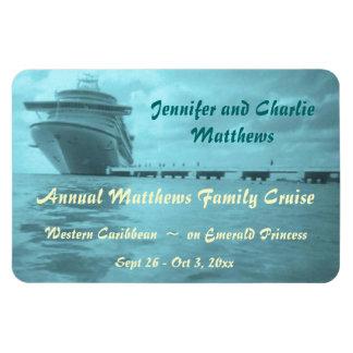 Aqua Ship Stateroom Door Marker Rectangular Photo Magnet