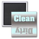 Aqua Silver Dirty Clean Magnet