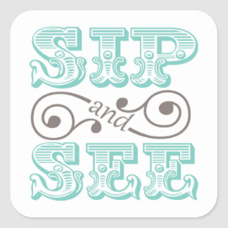 Aqua Sip And See Gift Stickers