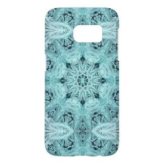 Aqua Snowflake Samsung Galaxy S7 Case