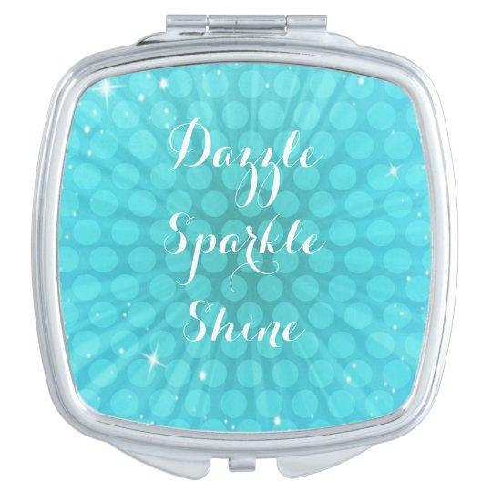 Aqua Sparkle Compact Mirror
