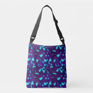 Aqua Splotches on Deep Purple Crossbody Bag