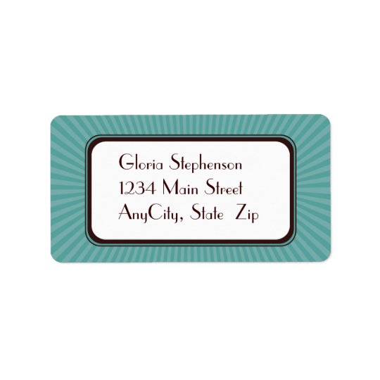 Aqua Spring Rays Address Labels