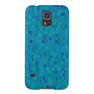 Aqua Squares modern pattern Galaxy S5 Cover