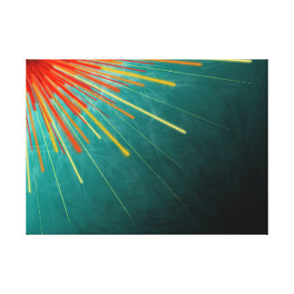 Aqua Starburst - Canvas Print