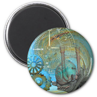 Aqua Steam Snail Traveler 2 Inch Round Magnet