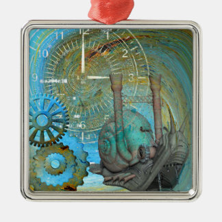 Aqua Steam Snail Traveler Metal Ornament