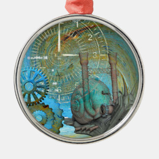 Aqua Steam Snail Traveler Metal Ornament