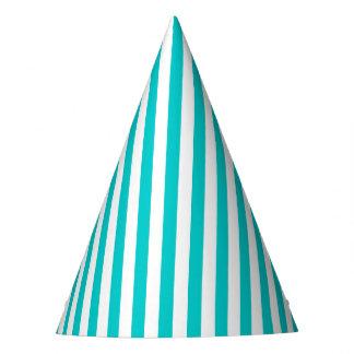 Aqua Stripe Party Hat
