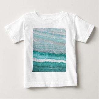 Aqua Striped Quartz Crystal Baby T-Shirt