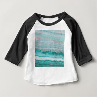 Aqua Striped Quartz Crystal Baby T-Shirt