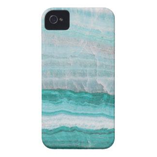 Aqua Striped Quartz Crystal iPhone 4 Covers