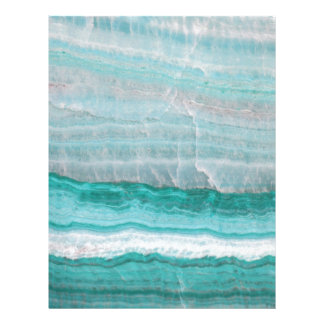 Aqua Striped Quartz Crystal Letterhead