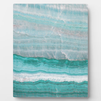 Aqua Striped Quartz Crystal Plaque