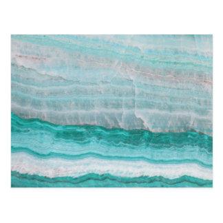 Aqua Striped Quartz Crystal Postcard