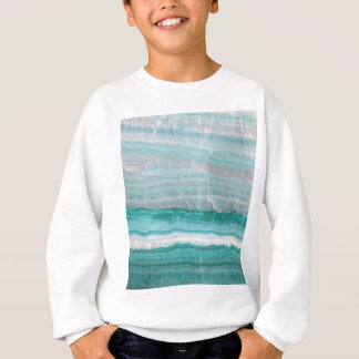 Aqua Striped Quartz Crystal Sweatshirt