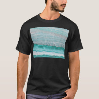 Aqua Striped Quartz Crystal T-Shirt