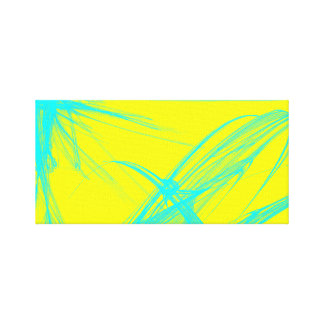 Aqua Strokes Canvas Print
