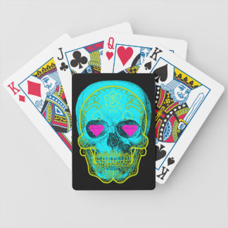 Aqua Sugar Skull Playing Cards