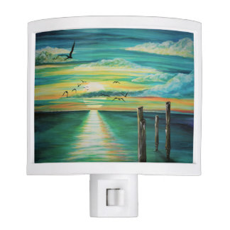 aqua sunset night light