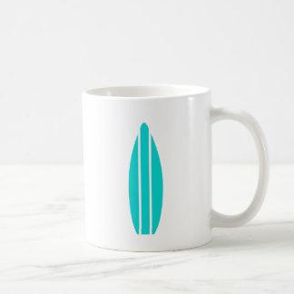 Aqua Surfboard Coffee Mug