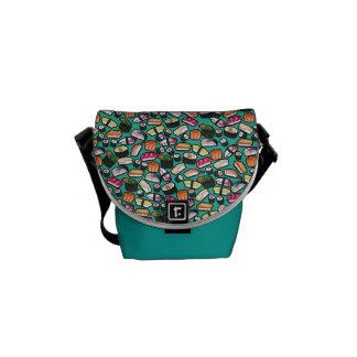Aqua Sushi Messenger Bag