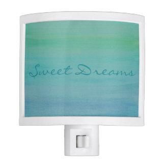Aqua Sweet Dreams Watercolor Nightlight Nite Lites