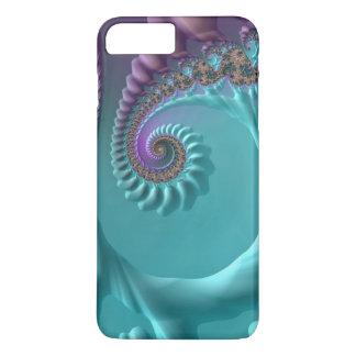Aqua Swirl Fractal iPhone 7 Plus Case