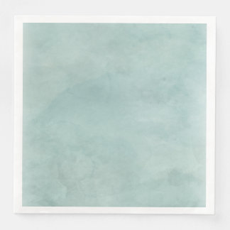 Aqua Teal Mint Watercolor Texture Wedding Paper Dinner Napkin
