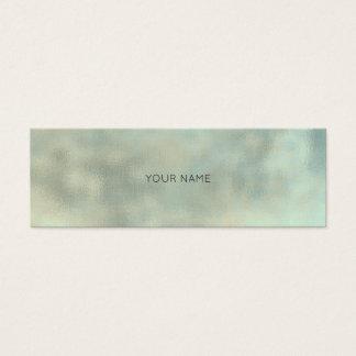 Aqua Tiffany Gray Gold Linen Minimal Texture Urban Mini Business Card