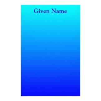 Aqua to Blue Stationery
