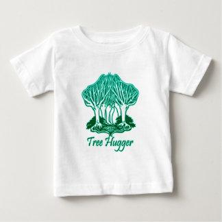 Aqua Tree Hugger Nature Environmentalist T-shirts