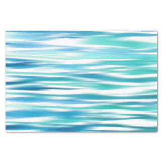 Aqua Turquoise Abstract Stripes Tissue Paper