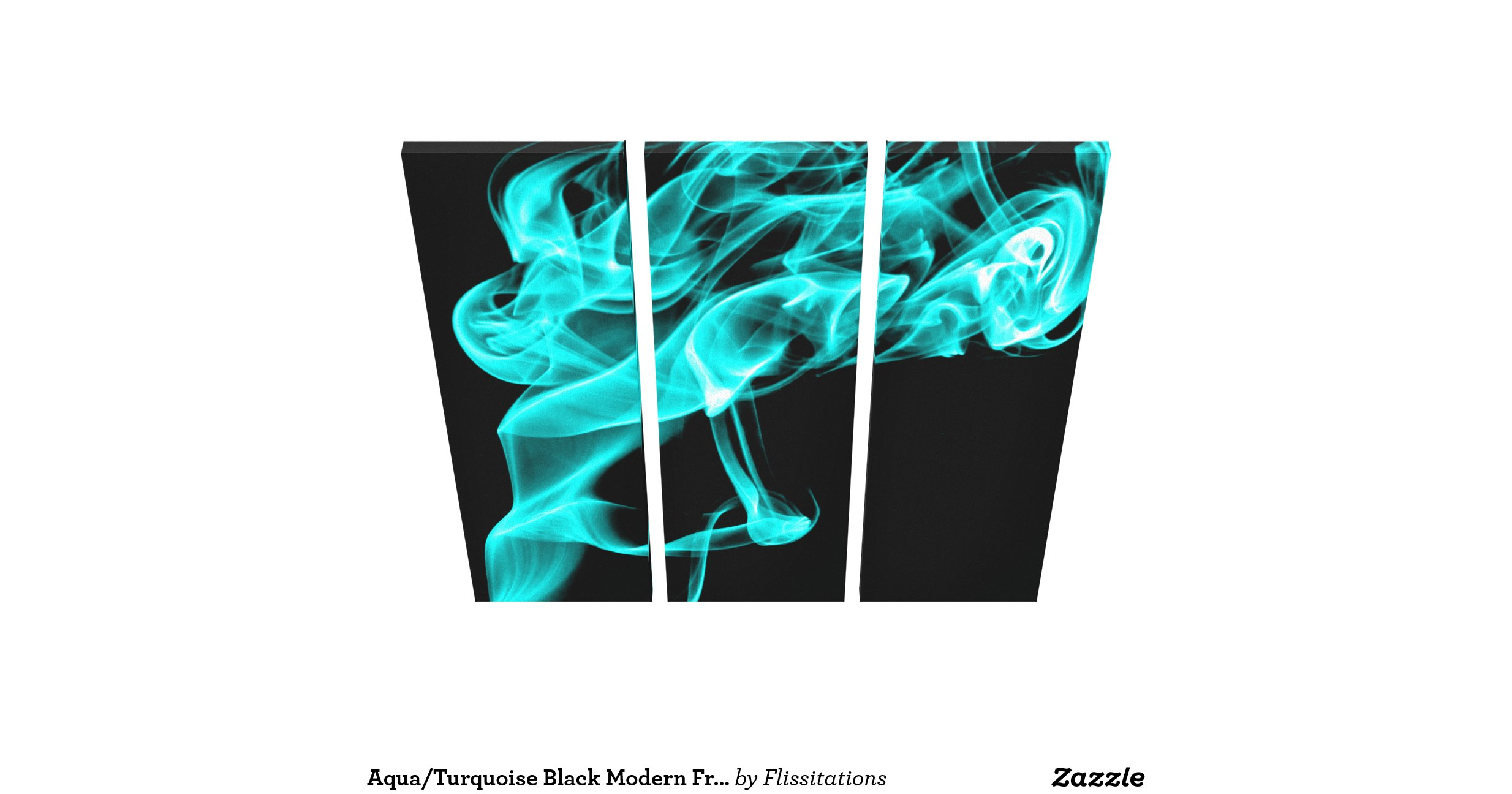 Aqua turquoise black modern fractal art wall decor gallery for Turquoise wall decor