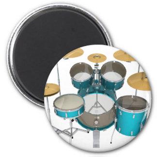 Aqua / Turquoise Drum Kit: 2 Inch Round Magnet