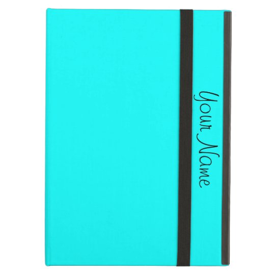 Aqua Turquoise Personalized Add Your Text Case For iPad Air