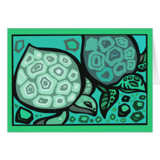 Aqua Turtles Card
