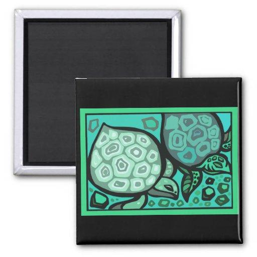 Aqua Turtles Magnets