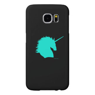 """""""Aqua Unicorn Sigil"""" Black Samsung Galaxy Case"""