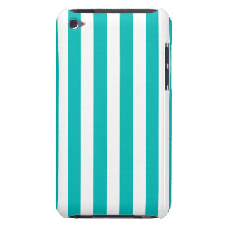 Aqua Vertical Stripes Barely There iPod Cover