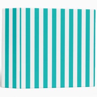 Aqua Vertical Stripes Binders