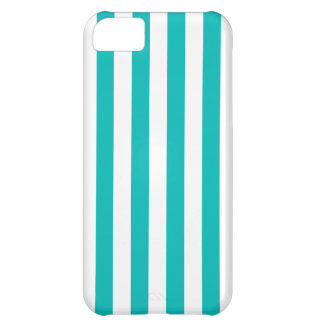 Aqua Vertical Stripes Case For iPhone 5C